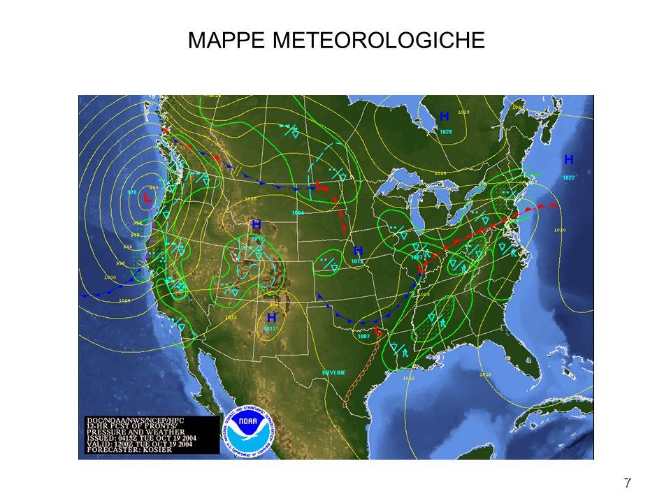 MAPPE METEOROLOGICHE