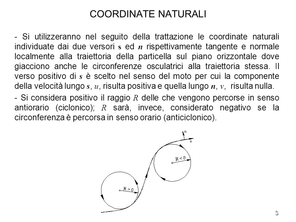 COORDINATE NATURALI