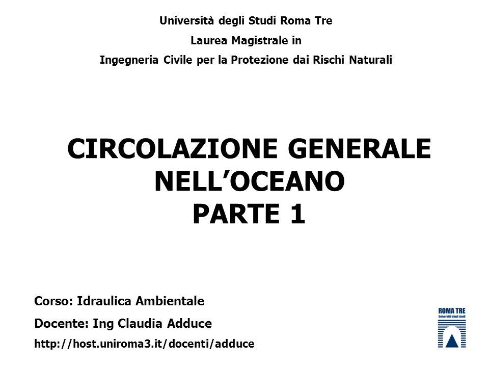 CIRCOLAZIONE GENERALE NELL'OCEANO PARTE 1