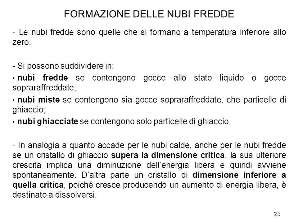 FORMAZIONE DELLE NUBI FREDDE