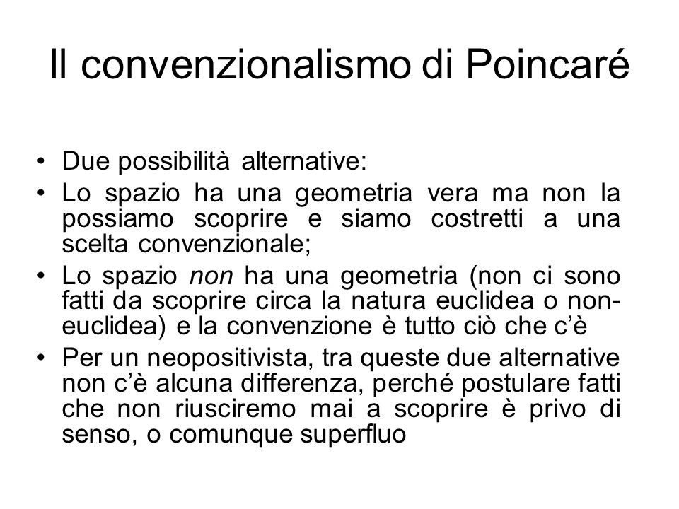 Il convenzionalismo di Poincaré