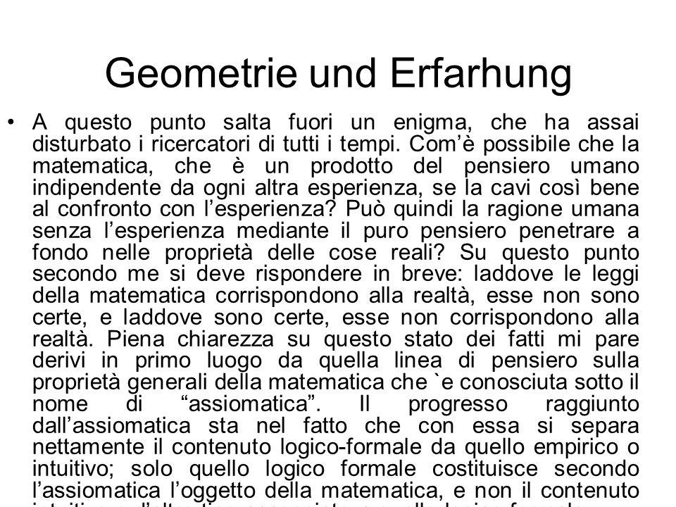 Geometrie und Erfarhung
