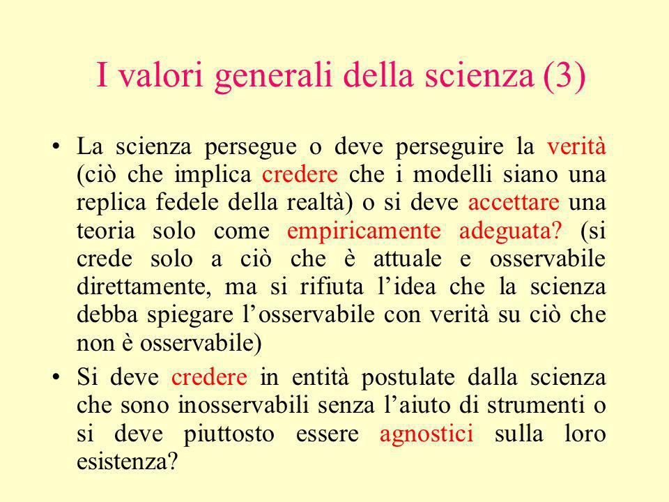I valori generali della scienza (3)