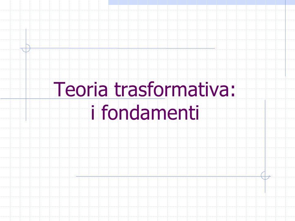 Teoria trasformativa: i fondamenti