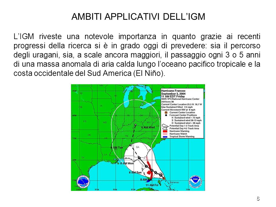 AMBITI APPLICATIVI DELL'IGM