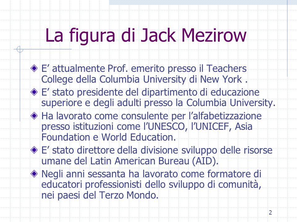 La figura di Jack Mezirow