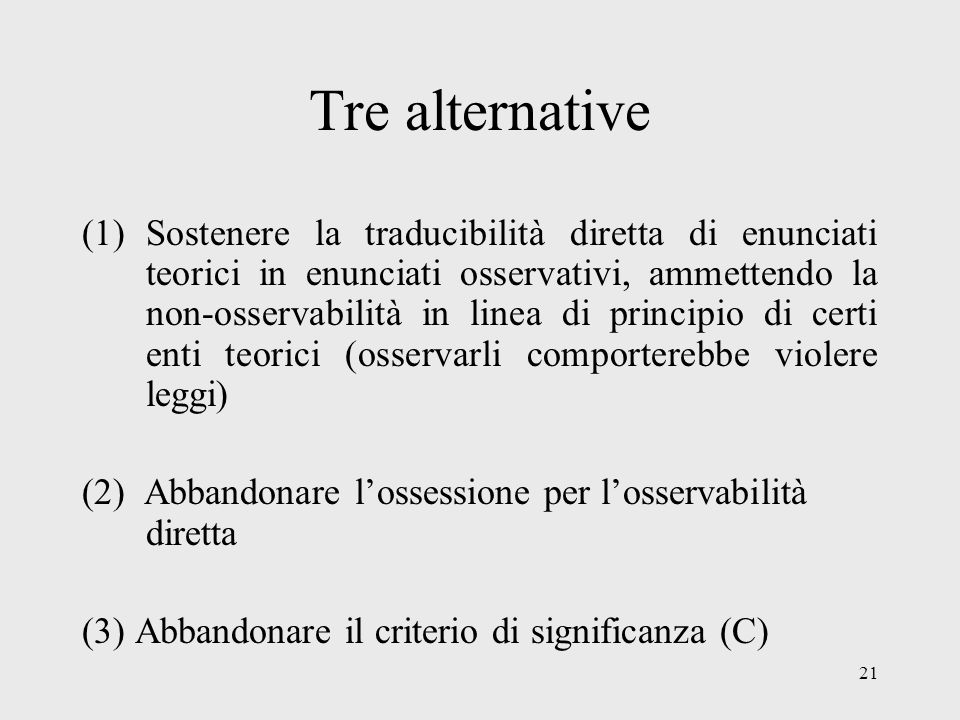 Tre alternative