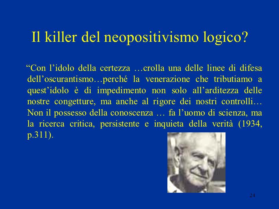 Il killer del neopositivismo logico