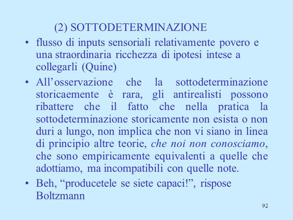 (2) SOTTODETERMINAZIONE