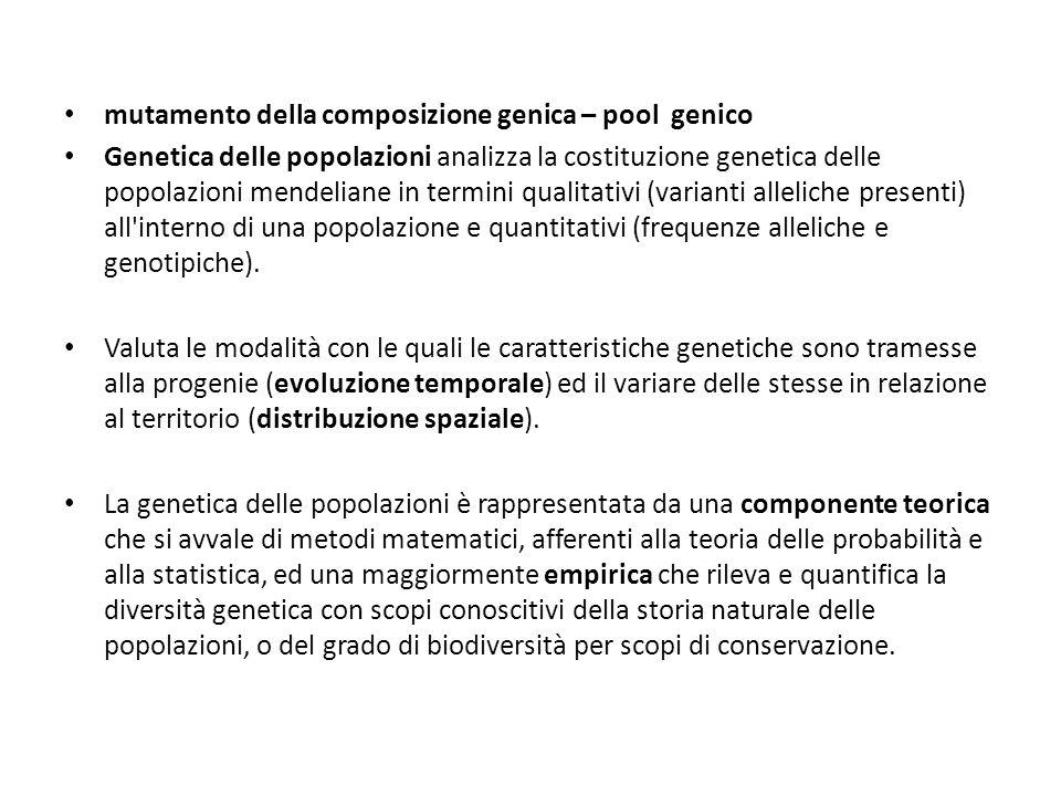 mutamento della composizione genica – pool genico