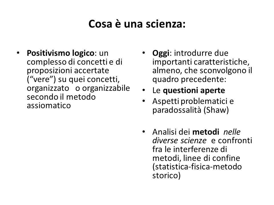 Cosa è una scienza: