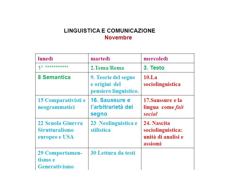 LINGUISTICA E COMUNICAZIONE