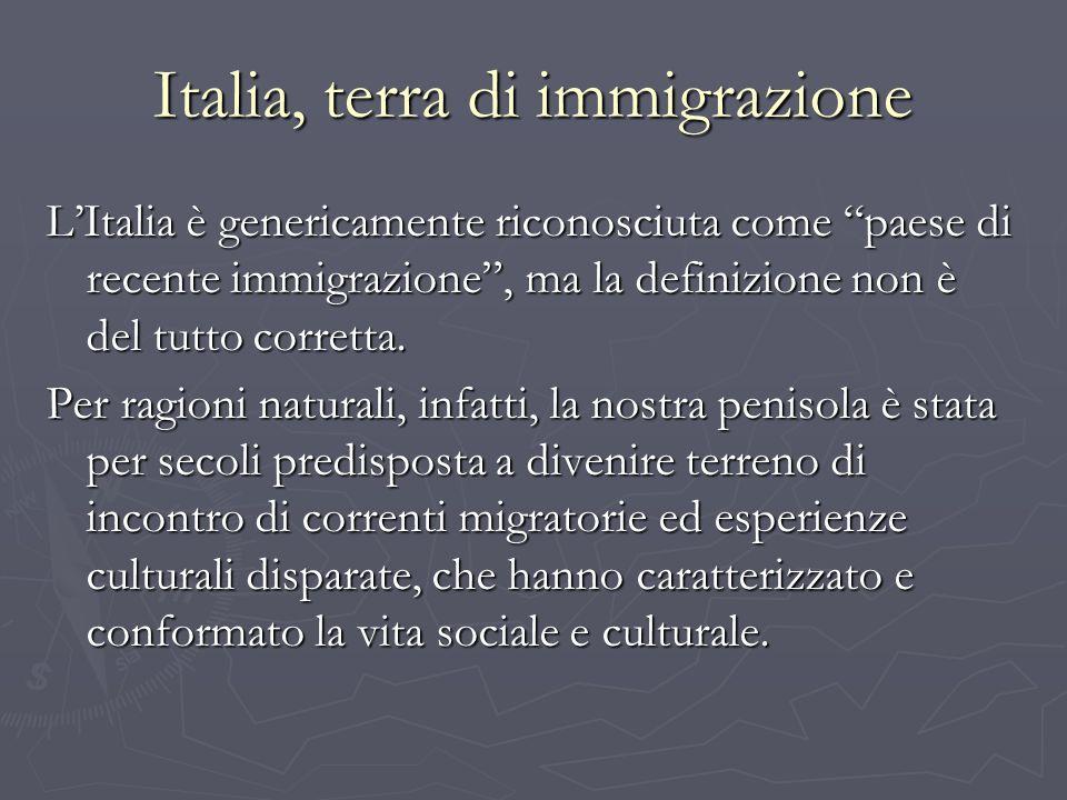 Italia, terra di immigrazione
