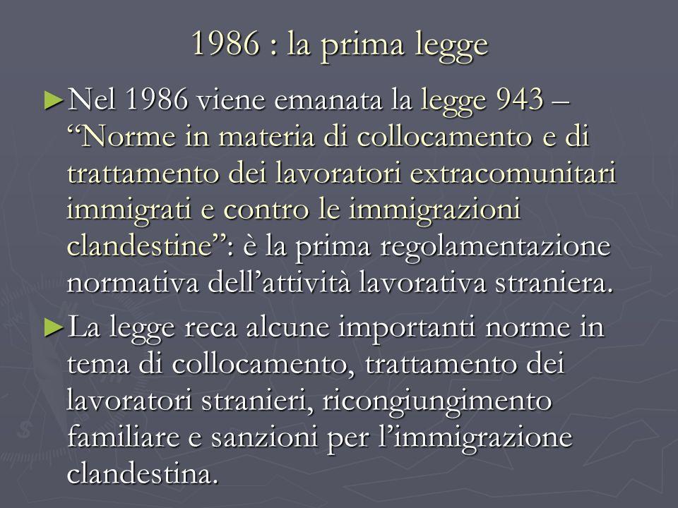 1986 : la prima legge