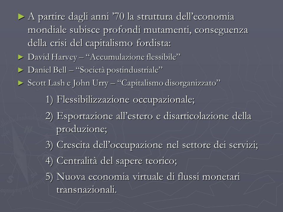 1) Flessibilizzazione occupazionale;