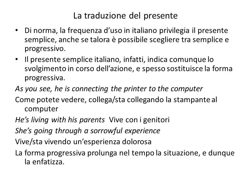La traduzione del presente