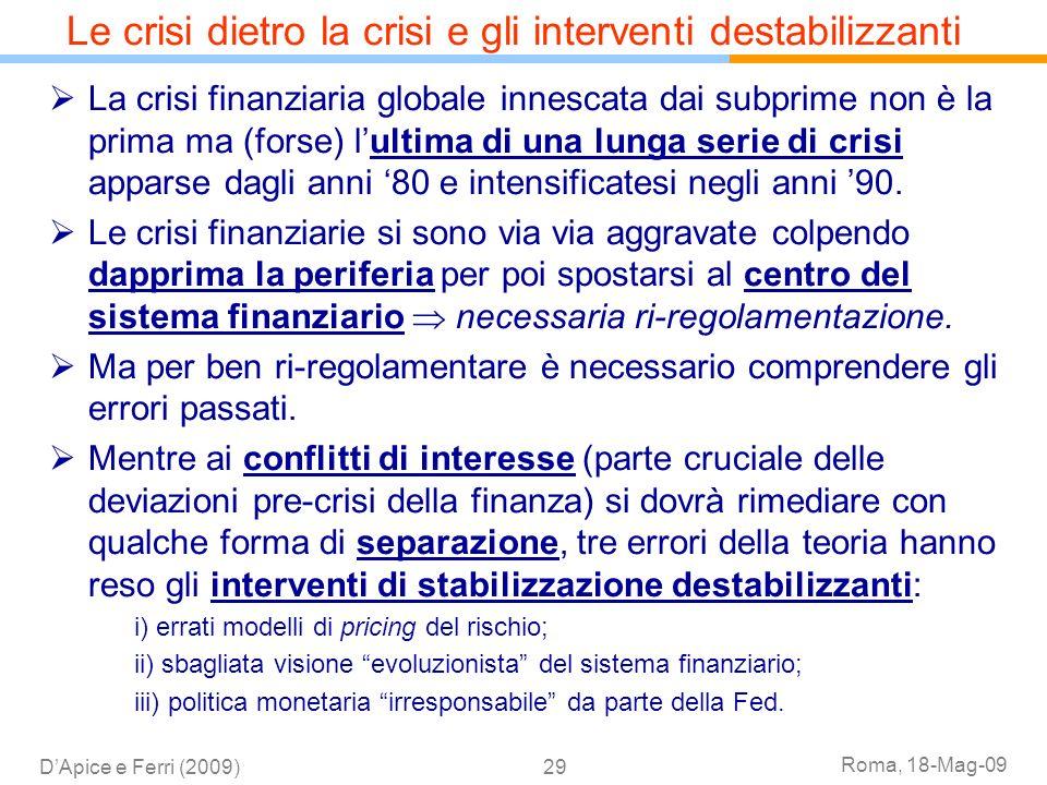 Le crisi dietro la crisi e gli interventi destabilizzanti