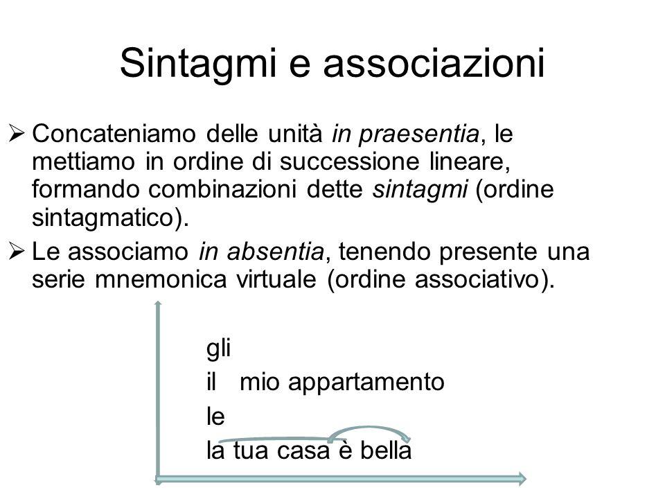 Sintagmi e associazioni