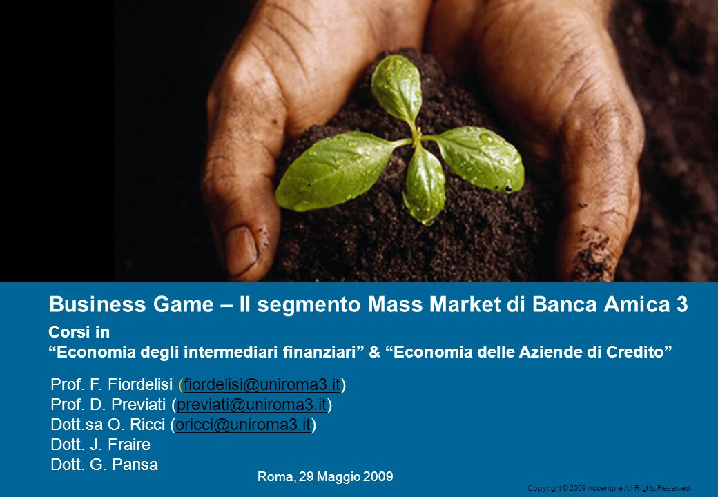 Business Game – Il segmento Mass Market di Banca Amica 3