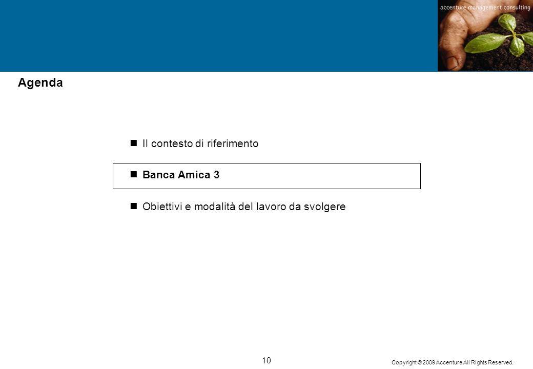 Agenda Il contesto di riferimento Banca Amica 3