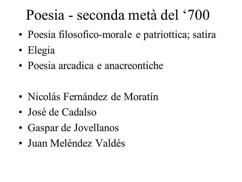 Poesia - seconda metà del '700