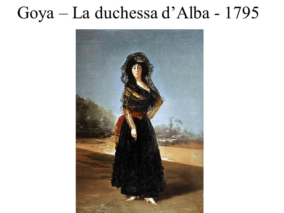 Goya – La duchessa d'Alba - 1795