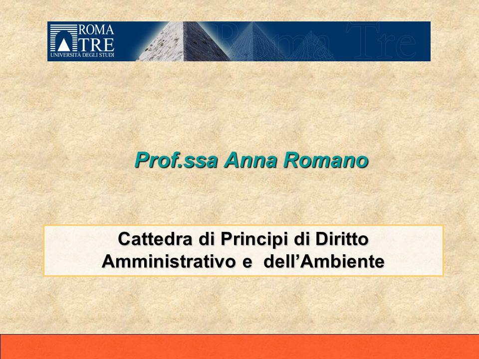 Cattedra di Principi di Diritto Amministrativo e dell'Ambiente