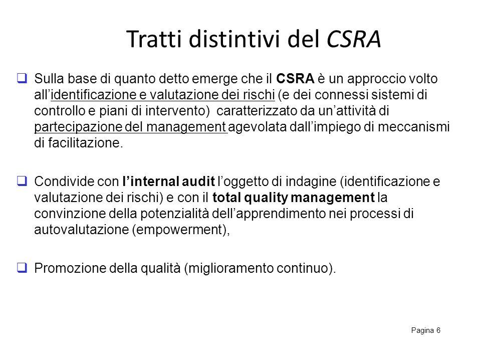 Tratti distintivi del CSRA