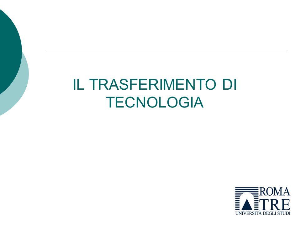 IL TRASFERIMENTO DI TECNOLOGIA