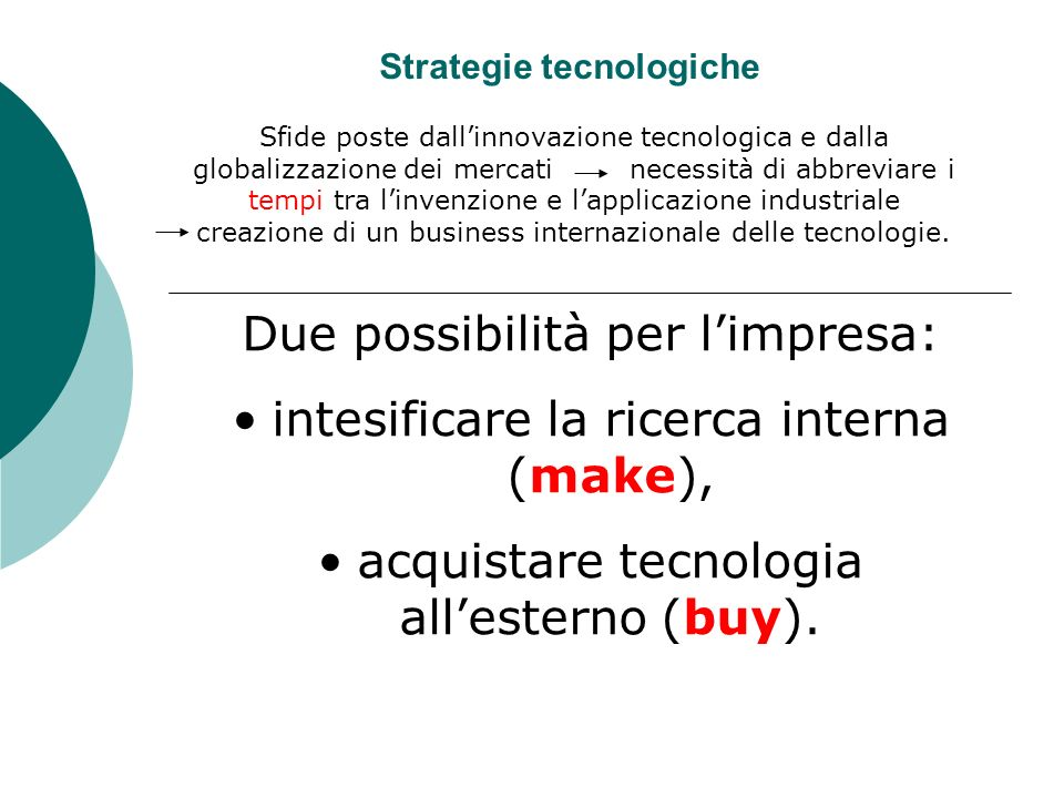Strategie tecnologiche
