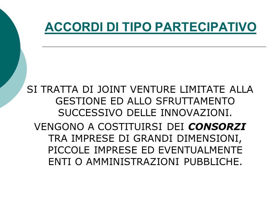ACCORDI DI TIPO PARTECIPATIVO