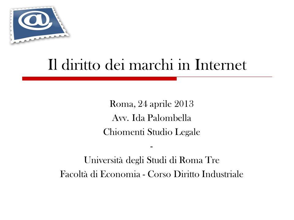 Il diritto dei marchi in Internet