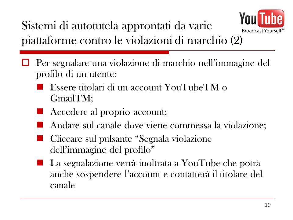 Sistemi di autotutela approntati da varie piattaforme contro le violazioni di marchio (2)