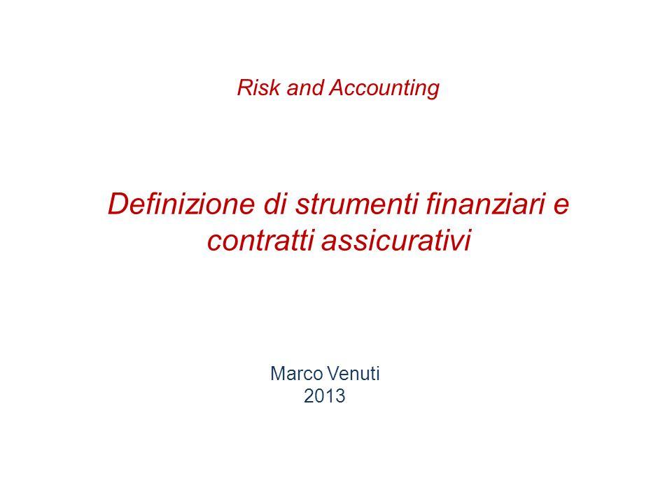 Definizione di strumenti finanziari e contratti assicurativi