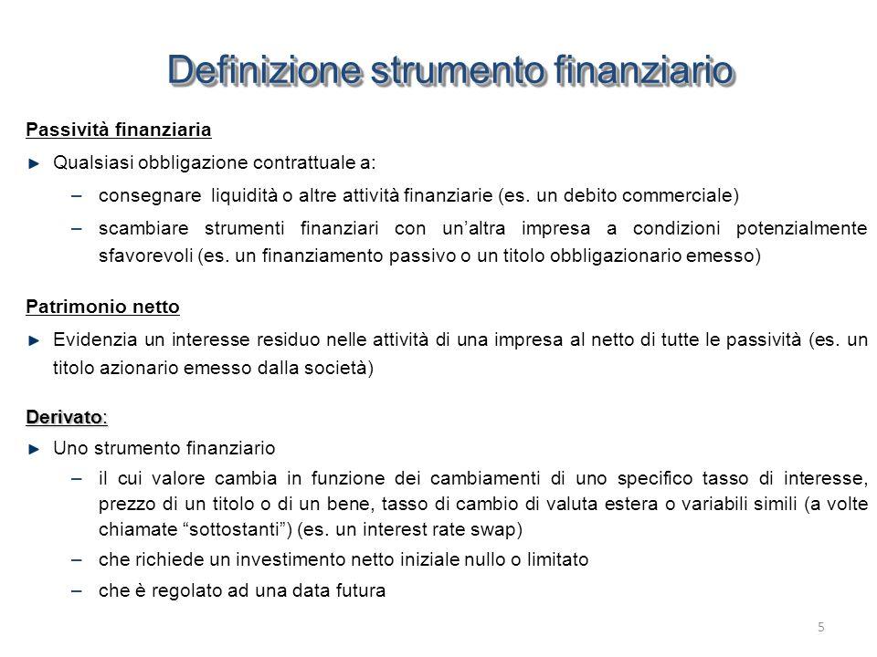 Definizione strumento finanziario