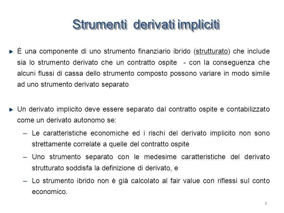 Strumenti derivati impliciti