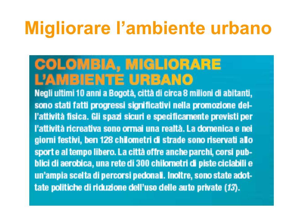 Migliorare l'ambiente urbano