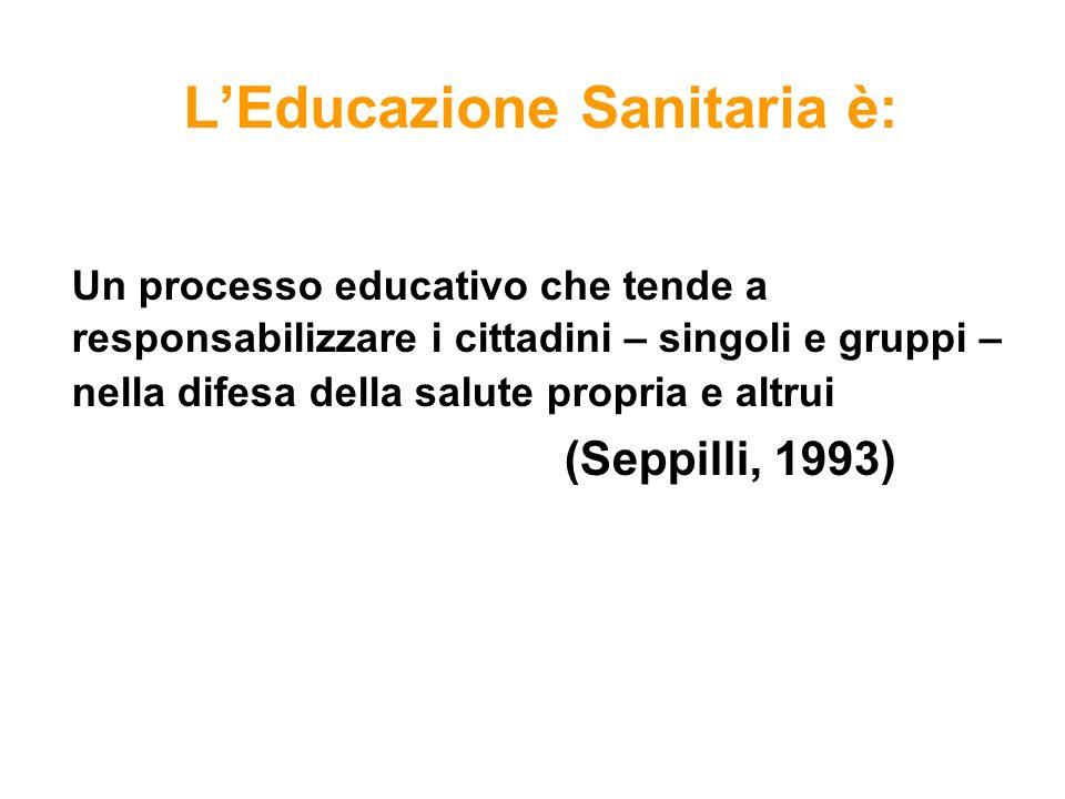 L'Educazione Sanitaria è: