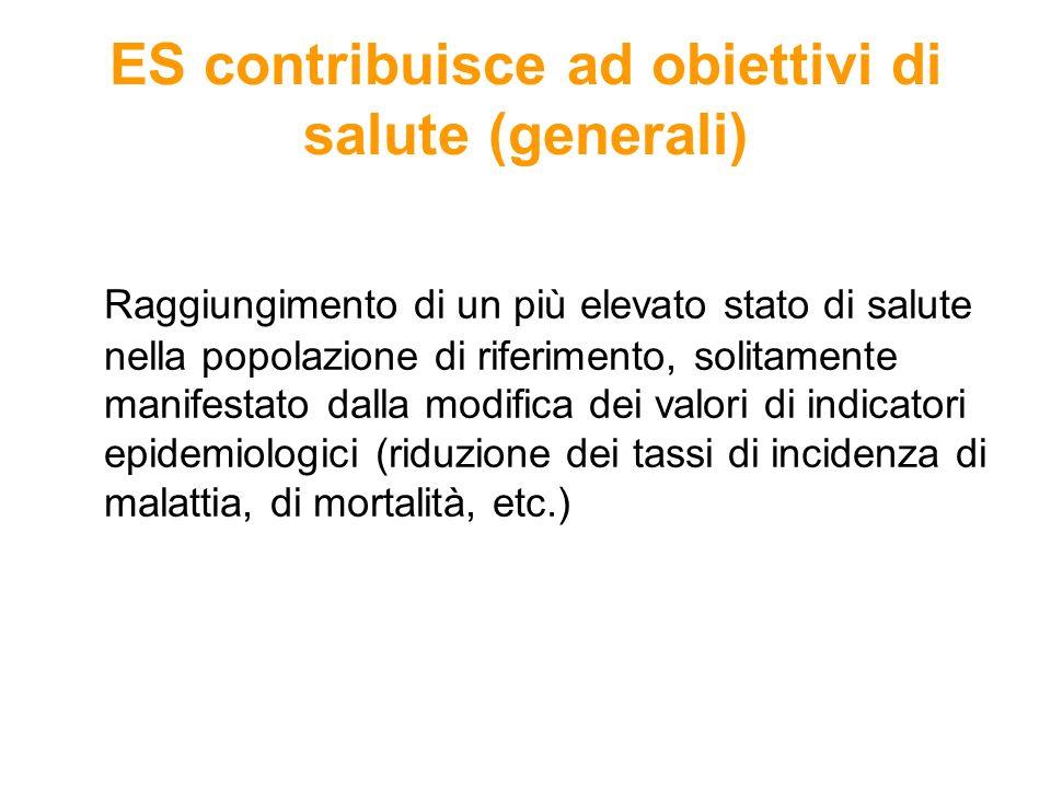 ES contribuisce ad obiettivi di salute (generali)