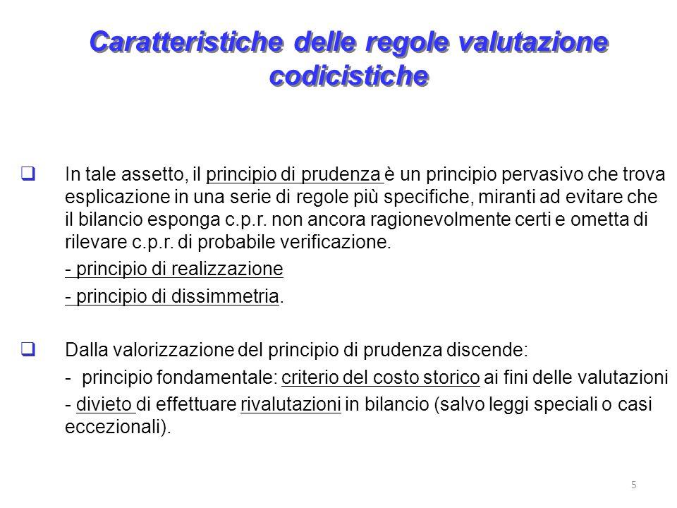 Caratteristiche delle regole valutazione codicistiche