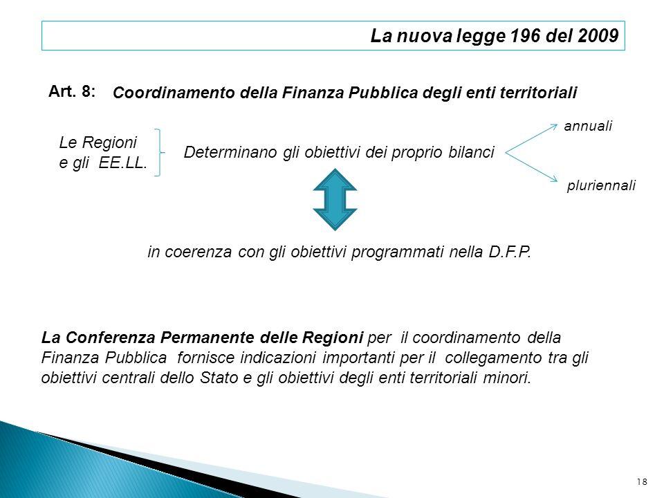 in coerenza con gli obiettivi programmati nella D.F.P.