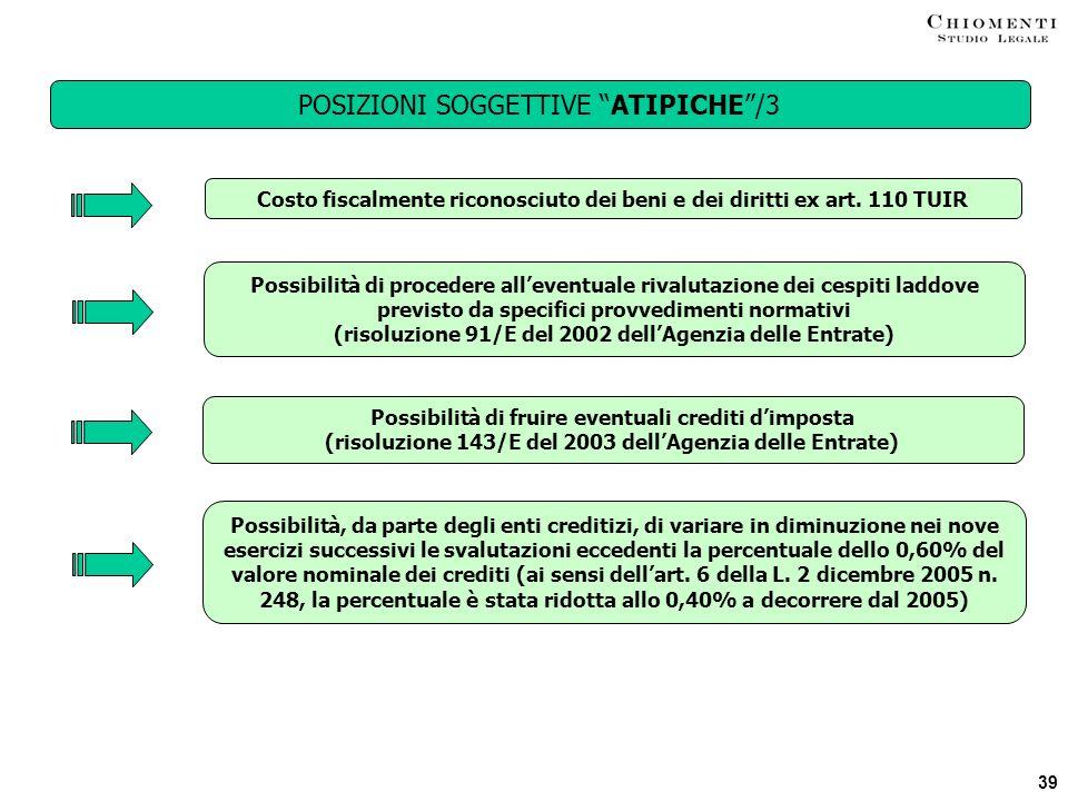 POSIZIONI SOGGETTIVE ATIPICHE /3