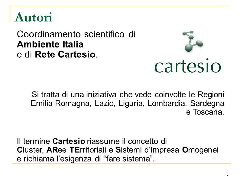 Autori Coordinamento scientifico di Ambiente Italia