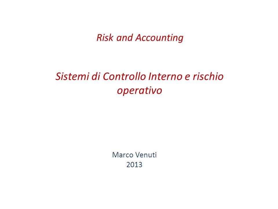 Sistemi di Controllo Interno e rischio operativo