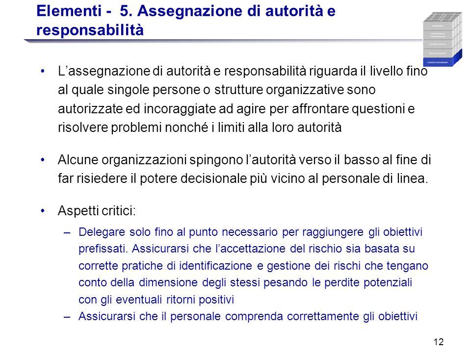Elementi - 5. Assegnazione di autorità e responsabilità