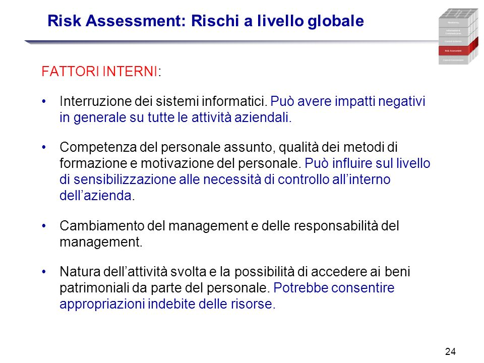 Risk Assessment: Rischi a livello globale