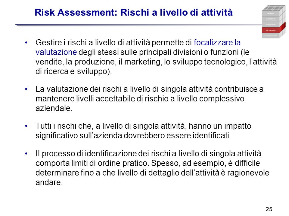 Risk Assessment: Rischi a livello di attività