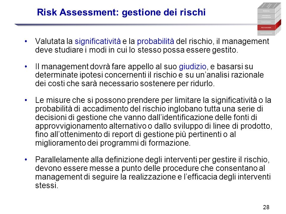Risk Assessment: gestione dei rischi