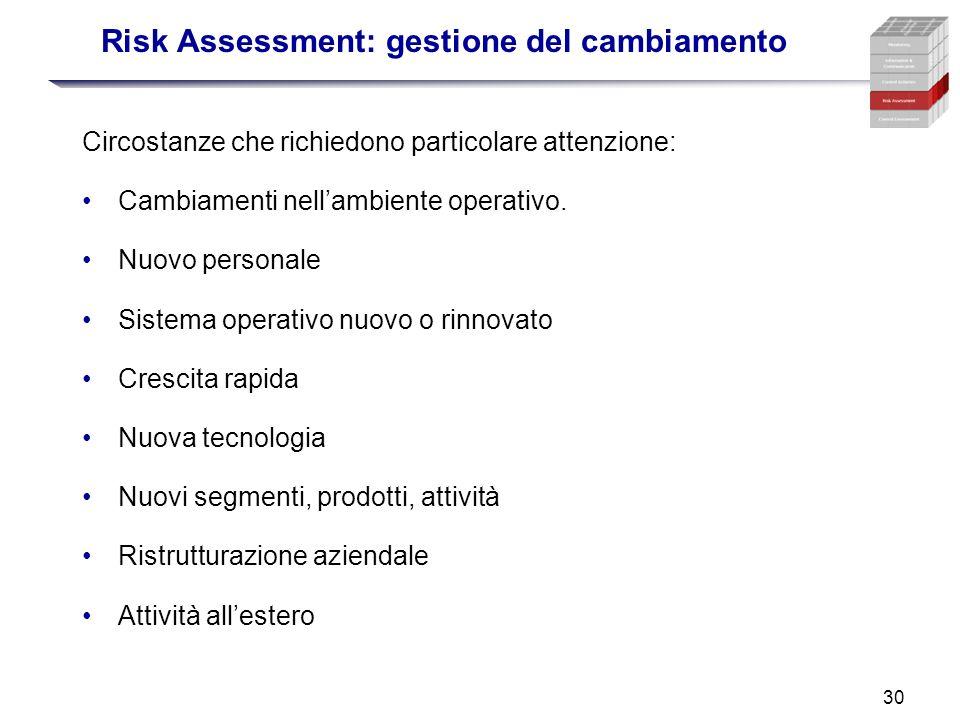 Risk Assessment: gestione del cambiamento