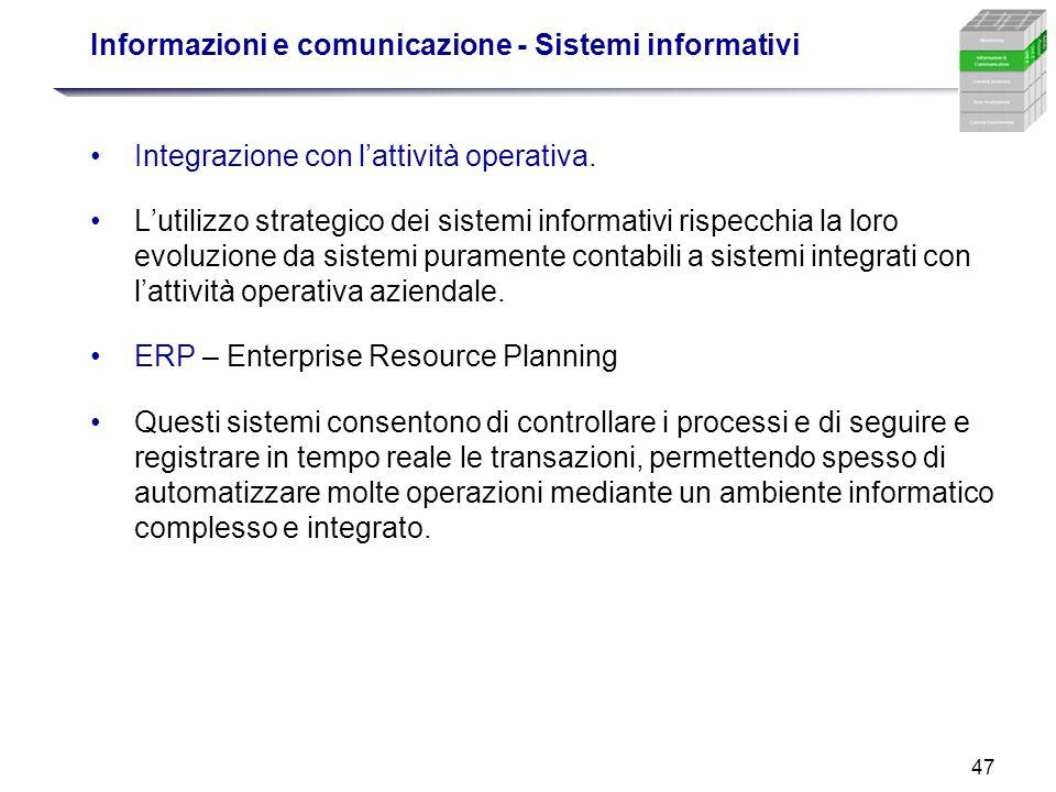 Informazioni e comunicazione - Sistemi informativi